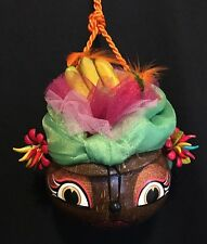 Katherine's Collection W Kleski Retired Carmen Miranda Coconut Purse Green