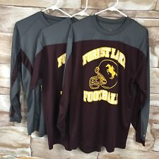 Athletic Forrest Lake Football High School Size large Lot of 3 shirts