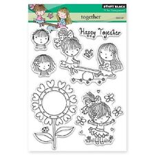 PENNY BLACK RUBBER STAMPS CLEAR TOGETHER NEW clearSTAMP SET