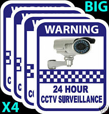 CCTV Camera Warning Stickers Surveillance Vinyl Decal Video Security Sign X4
