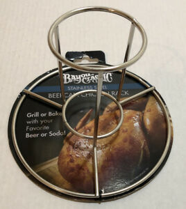 Bayou Classic Beer Can Chicken Rack Stainless Steel / Grill or Bake