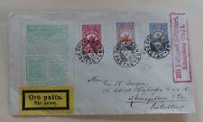 1926 Kaunas Litauen Michel 243, 244, 245 Ganzsache Luftpost Brief Königsberg