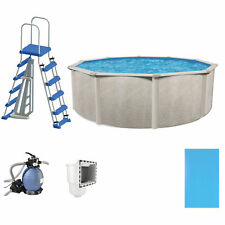 "Phoenix 18' x 52"" Steel Frame Above Ground Swimming Pool with Pump & Ladder Kit"