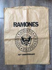 RAMONES - 40th Anniversary Brown Paper Bag - Punk Rock Memorabilia