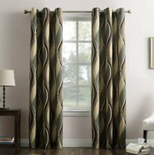 """No. 918 Intersect Casual Grommet Curtain Panel, Spruce 48"""" x 84"""", NOP"""