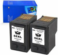 2pk for HP 56 Ink fits Deskjet 450 5150 5550 5650 5850 9650 9670 9680