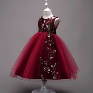 Flower Baby Girls Princess Dress Kids Party Birthday Wedding Dresses