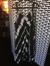 Shoreline Women's Plus Size Black & White Boho Beach Cover Up Dress Size 3xl