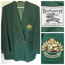 Burberry Blazer Wool Jacket Burberry's Vintage Emerald Green Emblem Blazer