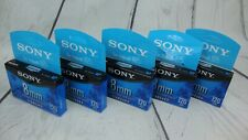 SONY 8mm Standard Video 8 Cassette Tapes P6-120MPL LOT OF 5 Sealed New
