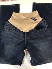 Old Navy Maternity Jeans Size 8 Regular Boot Cut Slim Low Rise Medium Wash