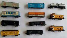 11 N Bachmann Freight Cars (Box Cars, Gondolas, Stock Cars, Tank Car, Cabooses)