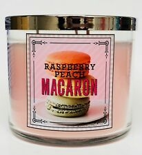 1 Bath & Body Works RASPBERRY PEACH MACARON Large Scented Candle 14.5 oz