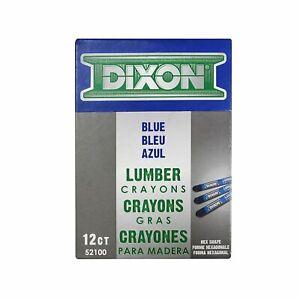 Dixon Ticonderoga 52100 Blue Lumber Crayons (Dozen)