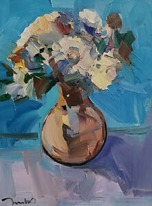 JOSE TRUJILLO Oil Painting IMPRESSIONISM Contemporary COLLECTIBLE FINE ART 12X16