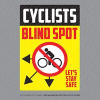 300mm X 210mm 2 x Large Cyclist Beware HGV Lorry Van Warning Sticker 4056B