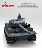 MAiM 1/16 WWII German Tank Crew (3 x Half Figures)