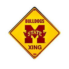 "Mississippi State University Bulldogs 12"" Xing Crossing Metal Sign Embossed"