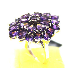 Uruguayan Amethyst Ring, Size 8 Sterling Silver