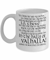Viking Mug 11oz Coffee Mug Cup - Lo There Viking Prayer - Great Viking Gift