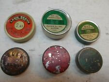 6 empty antique percussion cap tins Leon Qiulio Eley Umc F-L
