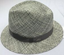 BAILEY OF HOLLYWOOD FIRMIN STRAW SILVER GRAY FEDORA HAT L LARGE 7 1/4 58cm