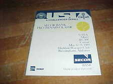 1989 USTA Challenger Series Tennis Program Birmingham Alabama