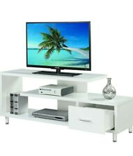 Convenience Concepts Modern White 60-inch TV Stand