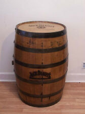 Whiskey Barrel JD Branded and Engraved Sanded and Finished w/ FREE SHIPPING