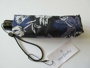 Vera Bradley Automatic Mini Umbrella Frosted Floral Print New With Tag