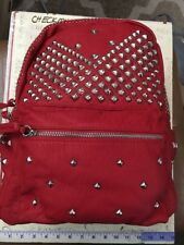 New NWT $139  Envy Red Syn. Leather Studded Backpack  fashion travel bag