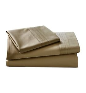Donna Karan KING Flat Sheet 510 TC Supima Cotton Solid SHIITAKE 258