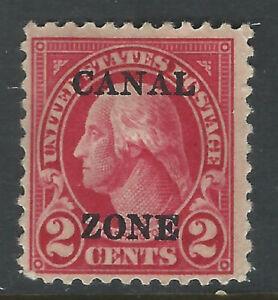 Bigjake: Canal Zone #84, 2 cent Washington with overprint