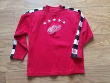 VTG 90s Starter NHL Detroit Red Wings Hockey Crewneck Sweatshirt Size L Red