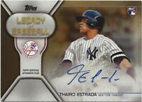 2019 Topps Update THAIRO ESTRADA Legacy of Baseball Auto GOLD 01/50 Yankees RC
