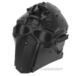 Outdoor Hunting Tactical Cosplay Module Full Face Mask Breathable Face Cover