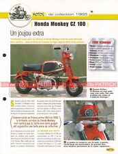 HONDA Monkey CZ 100 1965 Joe Bar Team Fiche Moto #003501