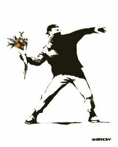 Banksy Flower Bomber 16 x 20 poster
