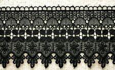 """Cotton crochet scallop lace edge trim white cream or black 1.5/"""" 4mts of 4cm"""
