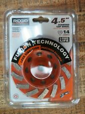 Ridgid 45 Concrete Grinding Coating Removal Leveling Diamond Cup Wheel Taw45p1