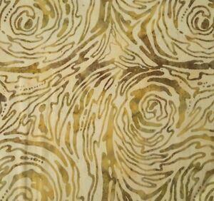 Ocean Tides Bali Batiks BTY Benartex Wood Grain Natural Tan