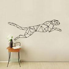 Geometric Jaguar Wall Sticker Running Leopard Home Decor Kids Bedroom Art Decal