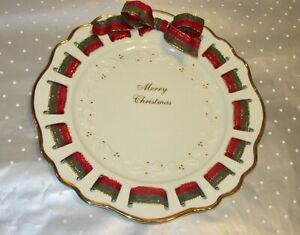 LENOX CHRISTMAS RIBBON PLATE