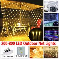 200-880 LED String Fairy Lights Net Mesh Curtain Xmas Garden Party Outdoor Decor