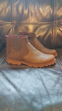 New Womens Timberland Brown Chelsea Ankle Leather Boots side Zip size 4