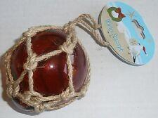 Nautical Christmas Ornament  FISHING FLOAT W/ JUTE ROPE  RED