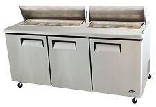Atosa Msf8304, 72-Inch Three-Door Sandwich Prep Table