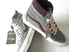 Vans Womens Sk8-Hi MTE All Weather Frost Grey Prune Purple Skate shoes 8 NWT