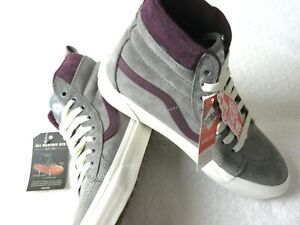 Vans Womens Sk8-Hi MTE All Weather Frost Grey Prune Purple Skate shoes 7.5 NWT