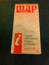 Tourist Information Centres Map Directory 1993 - 1994